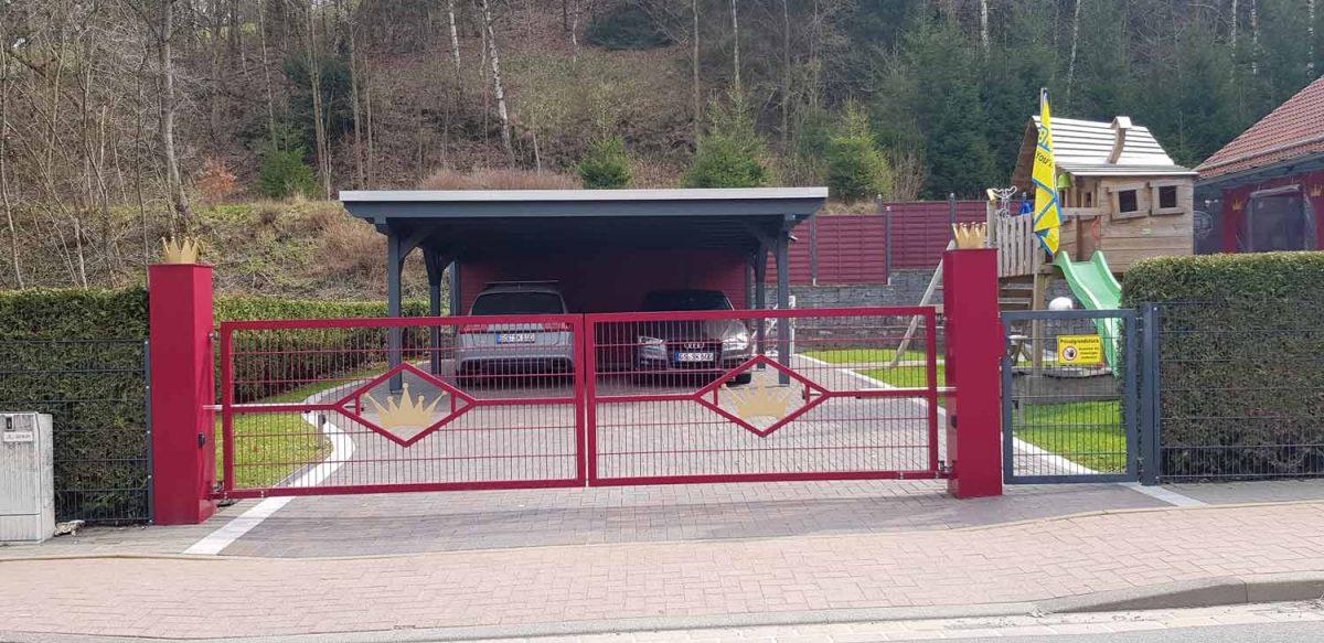 Elektrische Hoftoranlage Hirsch Metallbau